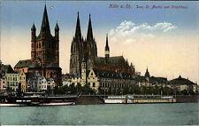 Köln am Rhein AK ~1910 Dom Sankt St. Martin Stapelhaus Kirche Church ungelaufen