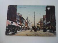 LEEDS, BRIGGATE  Franked & Stamped - Nostalgic Old Postcard   §E2238