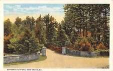 Bear Creek Pennsylvania Entrance Scenic View Antique Postcard K79652