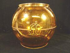 RARE & BEAUTIFUL LARGE ANTIQUE GE GENERAL ELECTRIC AMBER LIGHT GLOBE CIRCA 1895