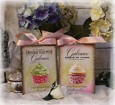 "A set of Two ""Cupcakes...""~Shabby Chic~Country Cottage style~Wall Decor Sign"