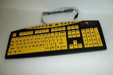 AbleNet Keys U See Large Print Multimedia USB Keyboard Wired QWERTY YKB-LP-YUSB