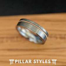 6mm Guitar String Ring Silver Tungsten Rings - Guitar Ring Mens Wedding Band