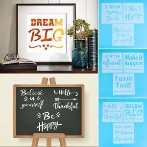 Reusable Crayon Drawing Painting Template Stencils Letter Spraying