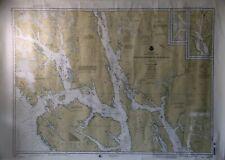 Vintage Stephens Passage to cross Sound Alaska Chart - 34x48 Wall Map 1998