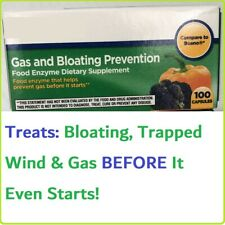 Gas &Bloating Relief Prevention Food Enzyme 100 Capsules Beano Tablets Treatment