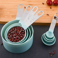 8Pcs Measuring Cups & Spoons Set Kitchen Baking Cooking Tea Coffee Home Tool Kit