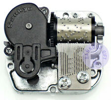 "Play ""Canon in D Major"" Silver Plated Sankyo Musical Movement for DIY Music Box"