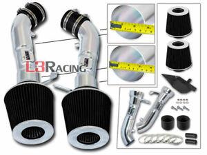 Cold Heat Shield Air Intake Kit + Black Filter For Infiniti 08-13 G37 3.7L V6