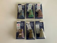 More details for dapol millennium daleks all 6 and unused display box.