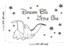 DUMBO Wall  Stickers DISNEY Dream Big LITTLE One NURSERY Baby Vinyl Decals