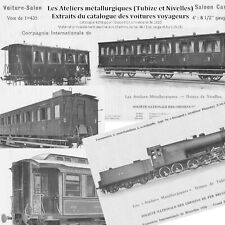 Extraits catalog. voit. voyageurs, Ateliers Métallurgiques 1910 future SNCB NMBS