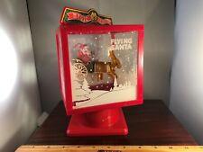 Vintage Magic Moving Santa's Sleigh With Reindeer 3 Carols Music Box Video!