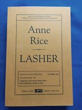 LASHER - UNCORRECTED PROOF BY ANNE RICE