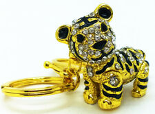 Diamond Tiger Pendant gold Keychain Backpack Accessory Animal Keyring Cute Gift