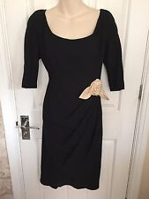 PADDY CAMPBELL STUNNING 100% WOOL LBD DRESS SZ 14 IMMACULATE CONDITION
