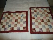 Two Quilted Pin Wheel  Pillow Shams