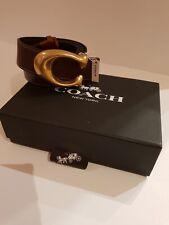 COACH : Sculpted Signature Reversible Belt - Rrp £195