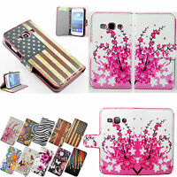 PU Leather Wallet Stand Magnetic Flip Case Cover For Samsung Galaxy Ace 3 S7272