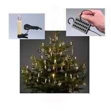 24 LED Innen Lichterkette Baumkerzen Christbaum Kerzen Weihnachten warmweiß  NEU
