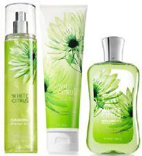 Bath & Body Works White Citrus Trio (Retired) Diamond Body Mist/Cream/Shower Gel