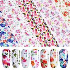 10Pcs Holographic Nail Foil Retro Flowers Bohemia Nail Art Transfer Sticker Set