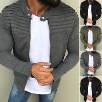 US Mens Winter Slim Warm Hooded Sweatshirt Zipper Up Coat Jacket Outwear Sweater