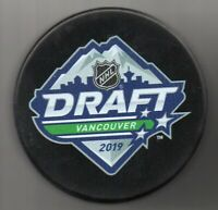 2019 NHL Entry Draft Rogers Arena Vancouver Canucks NHL Hockey Puck + FREE Cube