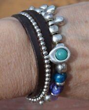 Uno De 50 NWOT ''Heaven & Earth'' Leather & Bead Bracelet MRSP $125.00