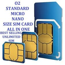 *OFFICIAL O2 NETWORK PAY AS YOU GO 02 SIM CARD SEALED UNLIMITED CALLS & TEXT