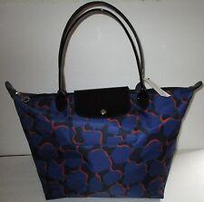 LONGCHAMP Le Pliage Neo Fantaisie Cobalt Multi Shoulder Tote Handbag  NEW