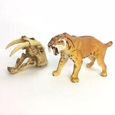 Dinotales Dinosaur Mini Figure Smilodon Saber-toothed Cat Skull Set Kaiyodo