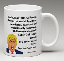 Personalized Funny Christmas Trump Praise Hug Club Mug InkyDinkyPrintShop.com
