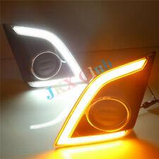 2pcs LED DRL DAYTIME RUNNING LIGHT W/ TURN SIGNAL FOG k FOR ISUZU D-MAX 2016-17