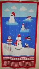 Polar Pals Snowman Christmas Xmas Cotton Quilting Fabric Panel Robert Kaufman