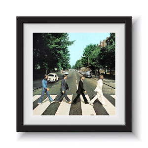 """The Beatles - Abbey Road  12"""" Album Cover - Framed 16"""" x 16"""""""