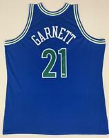 KEVIN GARNETT Autographed Timberwolves Authentic Blue Jersey FANATICS