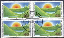 BUND 1052 Naturschutz,  Viererblock einwandfrei mit Ersttagsstempel !!