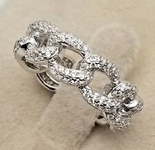 Brand Inspired Genuine 925 Sterling Silver Eternity Engagement Wedding Band Ring