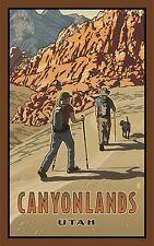 "Northwest Art Canyonlands Utah Hikers by Paul Paul B. Leighton 11x17"" - H15 35AM"