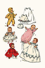 "Betsy Wetsy Tiny Tears by Ideal 16"" Doll Clothing PATTERN 1844 Christening dress"