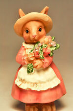 My Bunnies: Momma Bunny - In a Pink Dress, with Flowers and Spring Hat