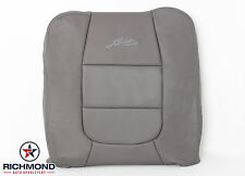 2003 Ford F150 Lariat -Driver Side Lean Back Replacement Leather Seat Cover Gray