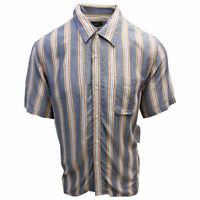 OBEY Men's Heather Navy York Vertical Striped S/S Shirt (Retail $59.99) S10
