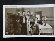 Charlie Chaplin CHARLIE YAWNS Red Letter Photocard c1915
