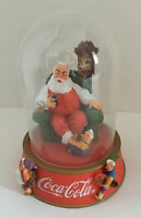 Coca-Cola Santa & Elves Dome FRANKLIN MINT~A MERRY CHRISTMAS CALLS FOR COKE '94