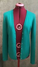 MICHAEL KORS 100% Luxe Cashmere Button Up Cardigan Sweater Size M Green