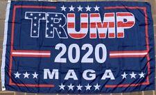 New listing President Trump 2020 M A G A Blue Stars And Stripes Usa 3X5 Flag Rough Tex® 100D