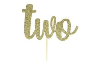 """GOLD Glitter Birthday NUMBER Cake Topper 5.5"""" Wide by 3.5"""" Tall Choose Number"""