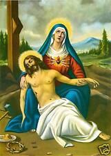 Catholic Print Picture PIETA Sorrowful Mary w/ Jesus - ready to be framed